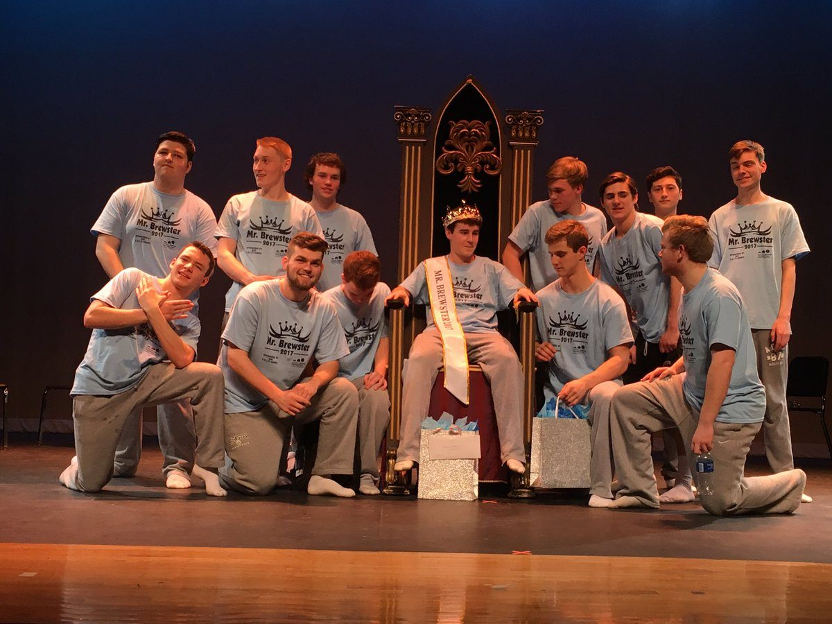 The+Mr.+Brewster+contestants+crown+their+winner+and+celebrate+a+job+well+done.