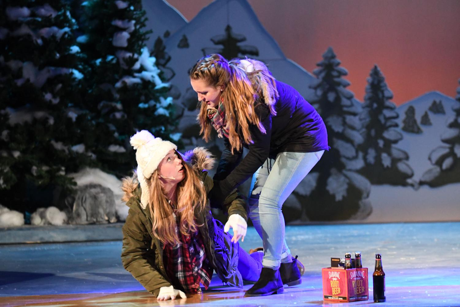 Grace Curley's and Megan Campbell's characters are falling for each other as they reminisce about old times.  All play photographs courtesy of 4sonsphotography