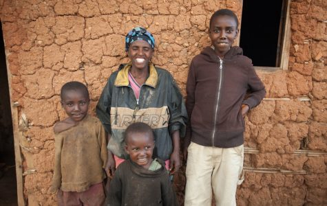 The Butoyi family from Makamba, Burundi. The live in a two bedroom home they built themselves, where they survive on the equivalent of $27 per month. The collect their own water and feel blessed to have clothing and a few cattle.