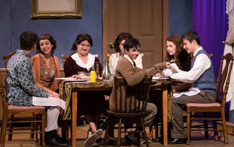 A dinner table that serves love and lessons is a table that will meet every evening.  The Jerome family takes a moment to gather and bond, as recounted through the eyes of Eugene Jerome (winningly played by freshman James Hartigan).