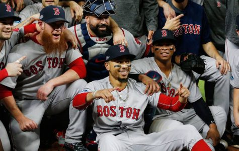 The 2018 Boston Red Sox celebrate a strong work ethic, teamwork, and an unbeatable streak that everyone saw coming.  (Photo courtesy Sporting News)