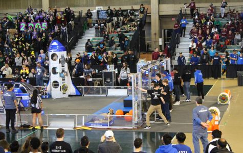 The three day competition is not only a full-fledged interaction between students and builders but is also a spectator sport, packing the seats.