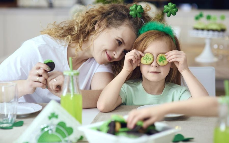 Just because you can't go to the parade, doesn't mean you can't celebrate!  Get the family together and find ways to be Irish at home.  (Photo courtesy iStock)
