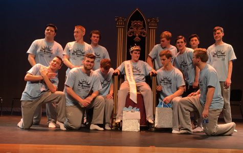 The Mr. Brewster contestants crown their winner and celebrate a job well done.