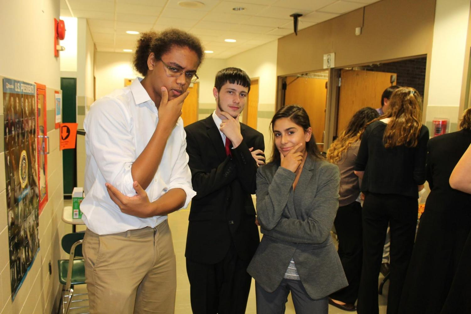 Model UN students Viktor Urvantsev, Colton Booth, and Jackie Bechara bring the presidential election to a whole new level.