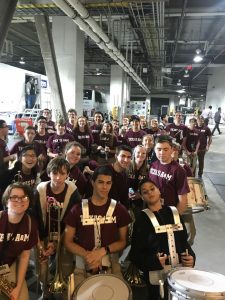 BHS Band Travels to Performs at Barclay Center for Texas A&M