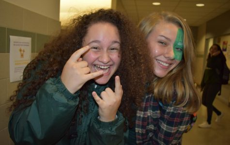 Spirit Week Concludes: Green and White Day and Hallway Decorating Part I!