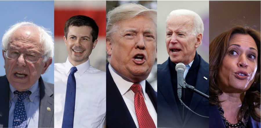 It's a crowded race, indeed!  In addition to some Republicans from his own party challenging the sitting president, the Democratic race is heating up, with dozens of potential candidates.  Who will emerge from the pack and become the Democratic hopeful?  Will Trump be taken down by someone from his own party?  Time will tell.