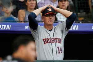 Former Houston Astros manager A.J. Hinch was subsequently fired for his role in the Astros' sign-stealing scandal. Photo courtesy David Zalubowski/AP