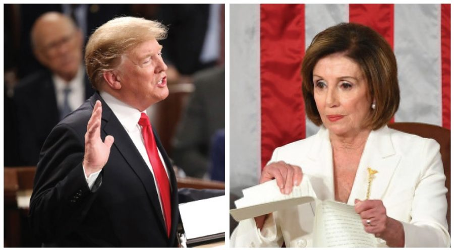 Snipping and ripping!  Who got the better of who in this address?  Was it President Teflon Donald J. Trump?  Or Speaker of the House Crooked Nancy Pelosi?  Our experts break down the melee for you.  Photos courtesy Leah Millis/Reuters/Pool via AP Images